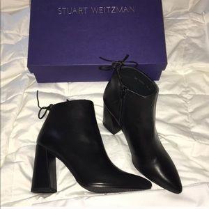 Stuart Weitzman Grandiose Booties Black leather